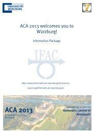 ACA 2013 - Lehrstuhl für Informatik VII - Universität Würzburg