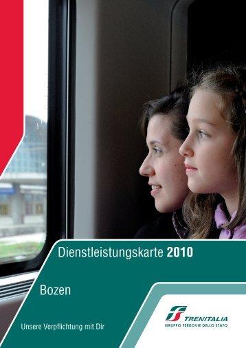 Dienstleistungskarte 2010 Bozen