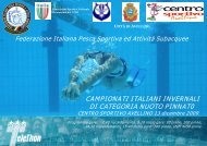 CAMPIONATI ITALIANI INVERNALI DI CATEGORIA NUOTO PINNAT0