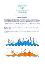 Sito Ufficiale http://www.novecolli.it Regolamento http ... - Hotel Marina