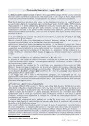Lo Statuto dei lavoratori Legge 300/1970