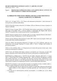 Decreto direzione generale sanità n. 14081 del 22/11/2007