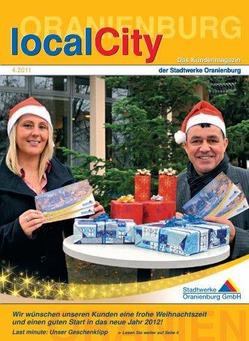 localcity - Ausgabe 04/2011 - Stadtwerke Oranienburg GmbH