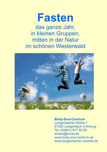 Body-Soul-Centrum - Was ist fasten
