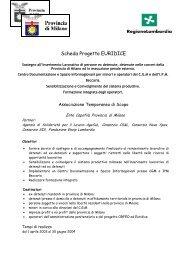 Scheda Progetto EURIDICE