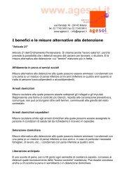 I benefici e le misure alternative alla detenzione