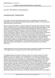 Intervista a Giorgio Bertazzini, Garante della Provincia di Milano, sull ...