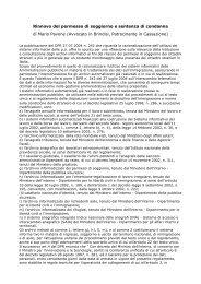 Rinnovo del permesso di soggiorno e sentenza di condanna di ...