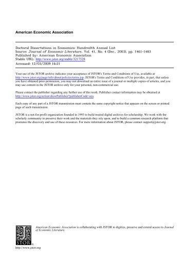 Doctoral dissertations in economics monoamine hypothesis bipolar