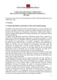 Clicca qui per la Carta dei Servizi anno 2007 - 2009 in ... - Istituto Parri