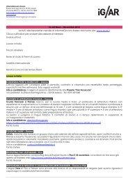 IG AR News – Novembre 2013 Iscriviti alla Newsletter mensile di ...