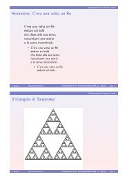 Ricorsione C'era una volta un Re Il triangolo di Sierpinskyi