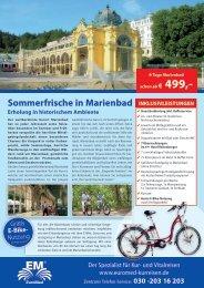 Sommerfrische in Marienbad