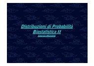 Distribuzioni ib i i di Probabilità bili Biostatistica II Biostatistica II
