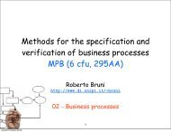 Methods for the specification and verification of business processes ...