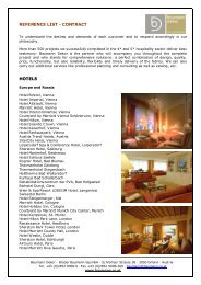 REFERENCE LIST - CONTRACT HOTELS - EuropeanDecor.org
