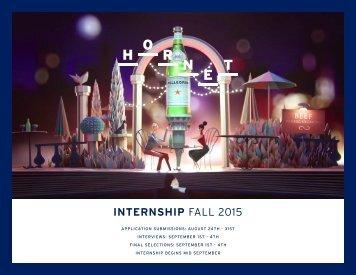 INTERNSHIP FALL 2015