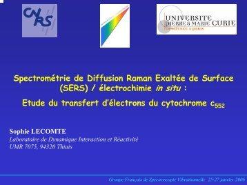 Le transfert d'électron par le cytochrome c est il identique pour les ...