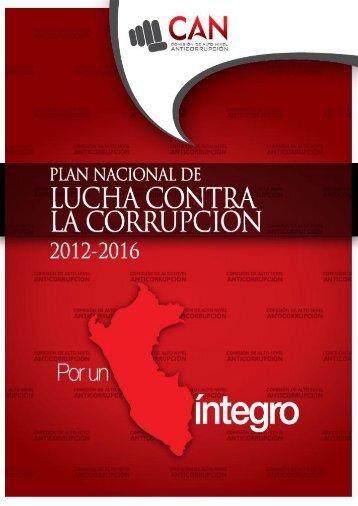 Plan Nacional de Lucha Contra la Corrupción 2012
