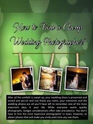 How to Find a Cheap Wedding Photographer?