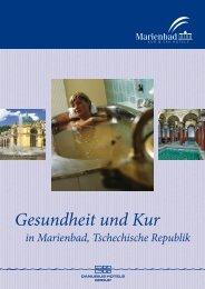 Gesundheit und Kur - Léčebné lázně Mariánské Lázně, as