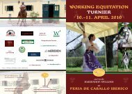 WORKING EQUITATION TURNIER 10.–11. APRIL 2010