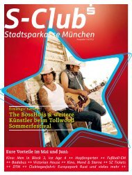 The BossHoss & weitere Künstler beim ... - Stadtsparkasse München