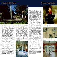 Schloss Glienicke / Berlin Referenzen  an die Antike