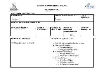 COLEGIO DE BACHILLERES DE CHIAPAS