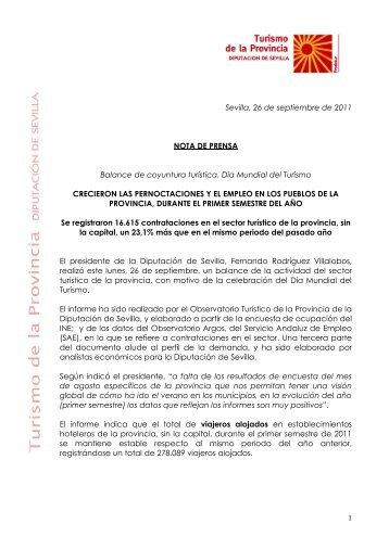 Nota de prensa - Turismo de la Provincia de Sevilla