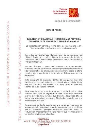 nota globo. doc - Turismo de la Provincia de Sevilla