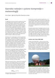 Uporaba radarjev s pulzno kompresijo v meteorologiji