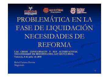 PROBLEMATICAS EN LA FASE DE LIQUIDACION VALENCIA 2010 ...