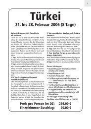 Preis pro Person im DZ - Omnibusbetrieb Klaus Weber
