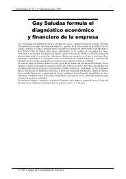 Gay Saludas formula el diagnóstico económico y financiero de la empresa