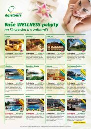 Vaše wellness pobyty na Slovensku av zahraničí - AGRITOURS ...