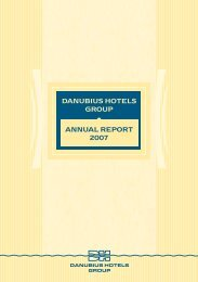 DANUBIUS HOTELS GROUP ANNUAL REPORT 2007