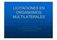 LICITACIONES EN ORGANISMOS MULTILATERALES