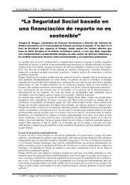 """""""La Seguridad Social basada en una financiación de reparto no es ..."""