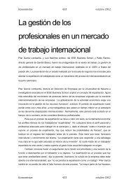 La gestión de los profesionales en un mercado de trabajo internacional