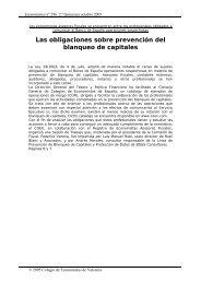 Las obligaciones sobre prevención del blanqueo de capitales