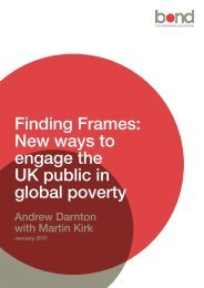 Finding Frames New ways to engage the UK public in global poverty