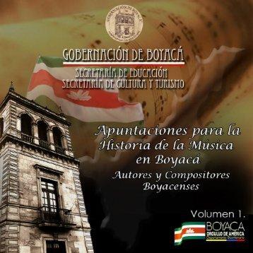 Apuntaciones para la Historia de la Música en Boyacá