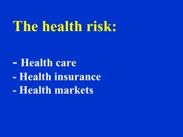 The health risk