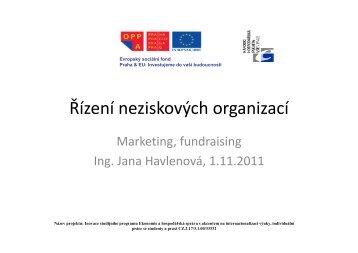 Řízení neziskových organizací-prezentace NO
