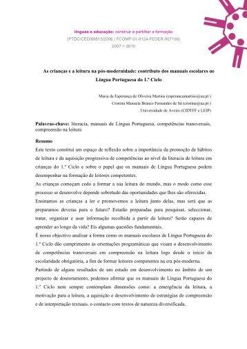 Martins & Sá2008 - Línguas & Educação - Universidade de Aveiro