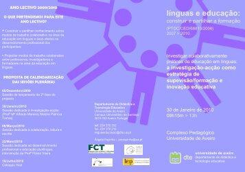 línguas e educação