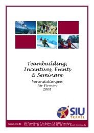 Teambuilding, Incentives, Events & Seminare