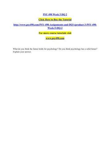 Psy 490 capstone quiz