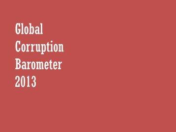 Corruption Barometer 2013